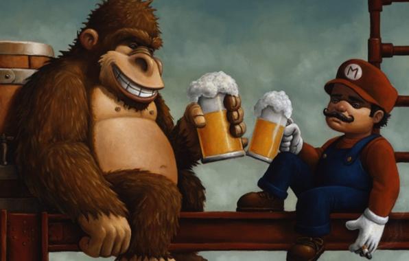 donkey-kong-mario-pivo-bochka